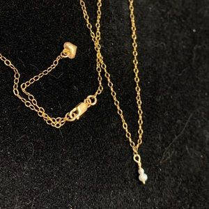 24k gold fill & genuine pearl necklace